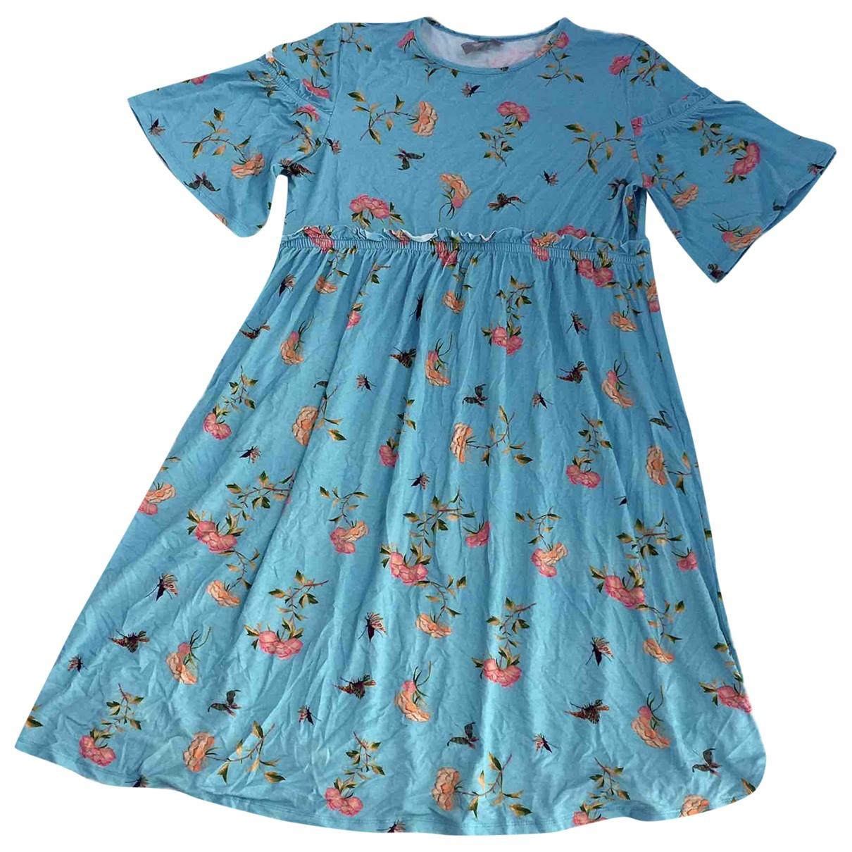 Asos - Robe   pour femme en coton - elasthane - bleu