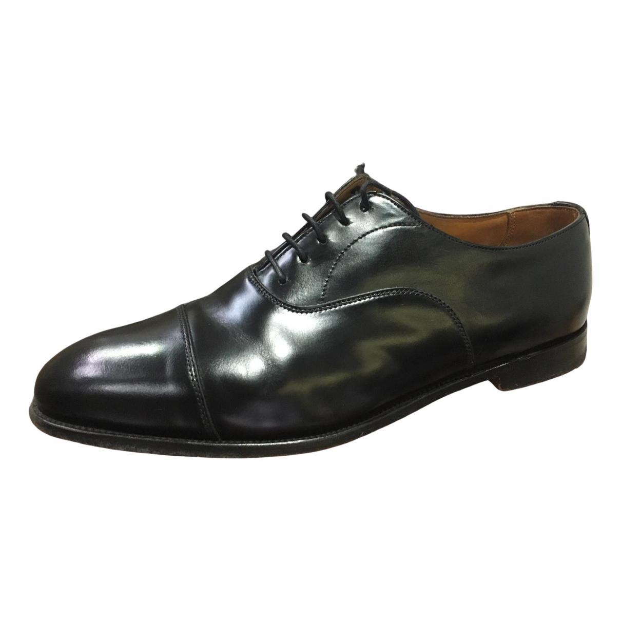 Alfred Sargent - Derbies   pour homme en cuir - noir