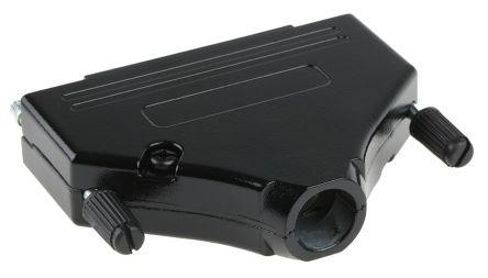 MH Connectors , MHDTZK-BK Zinc D-sub Connector Backshell, 37 Way, Strain Relief, Black