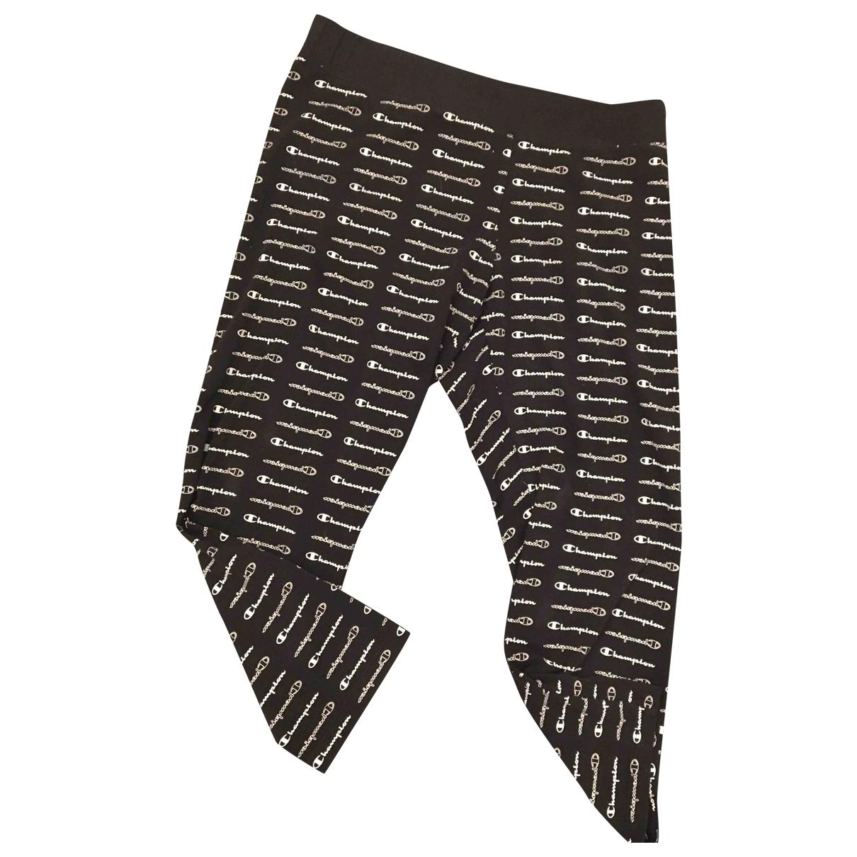 Champion - Pantalon   pour femme en coton - noir