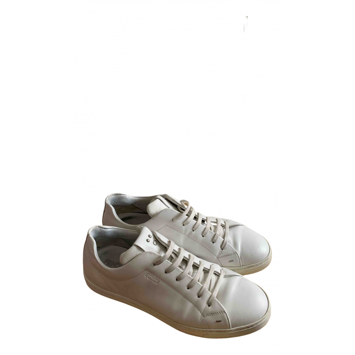 Fendi \N White Leather Trainers for Men 43 IT