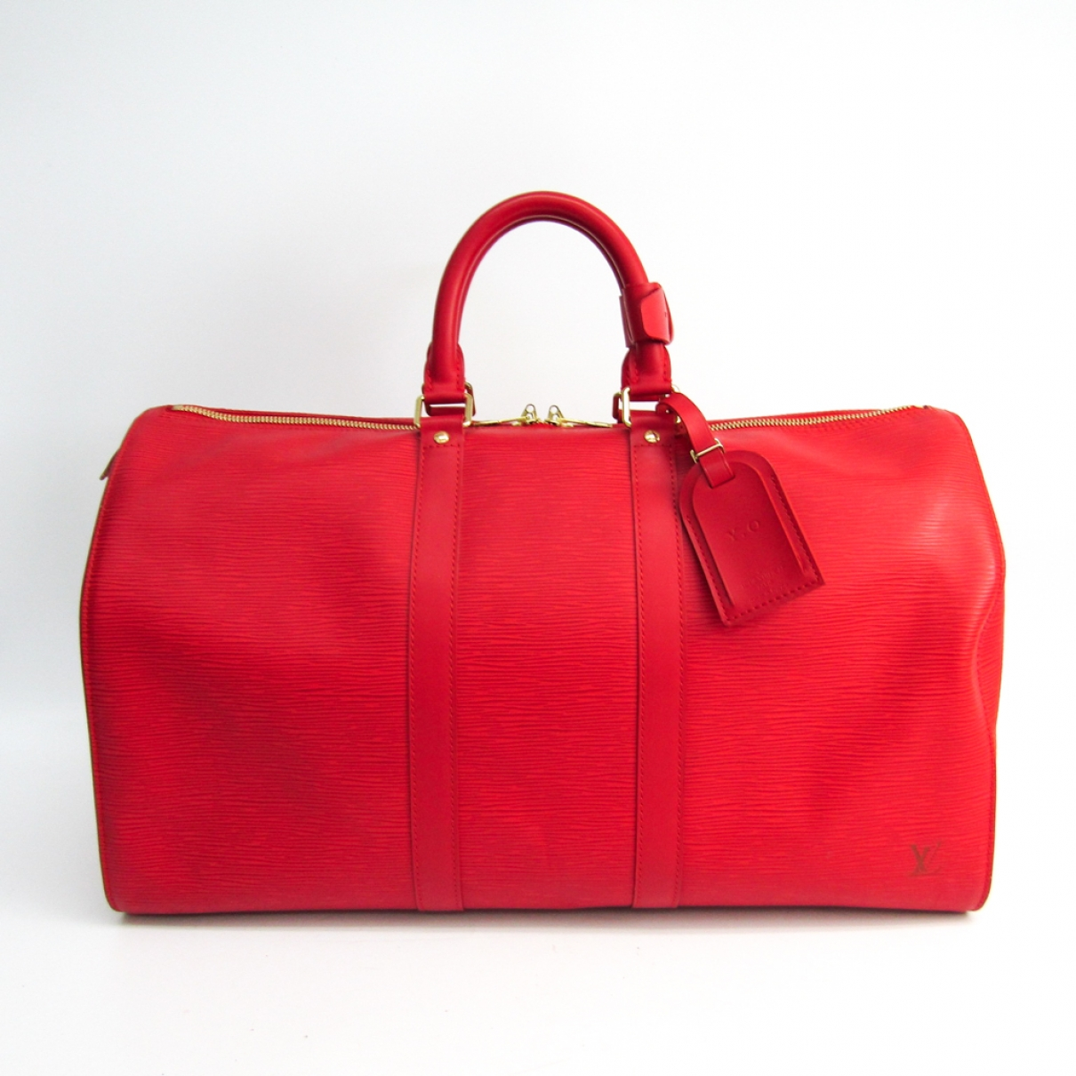 Louis Vuitton Keepall Red Leather Travel bag for Women \N