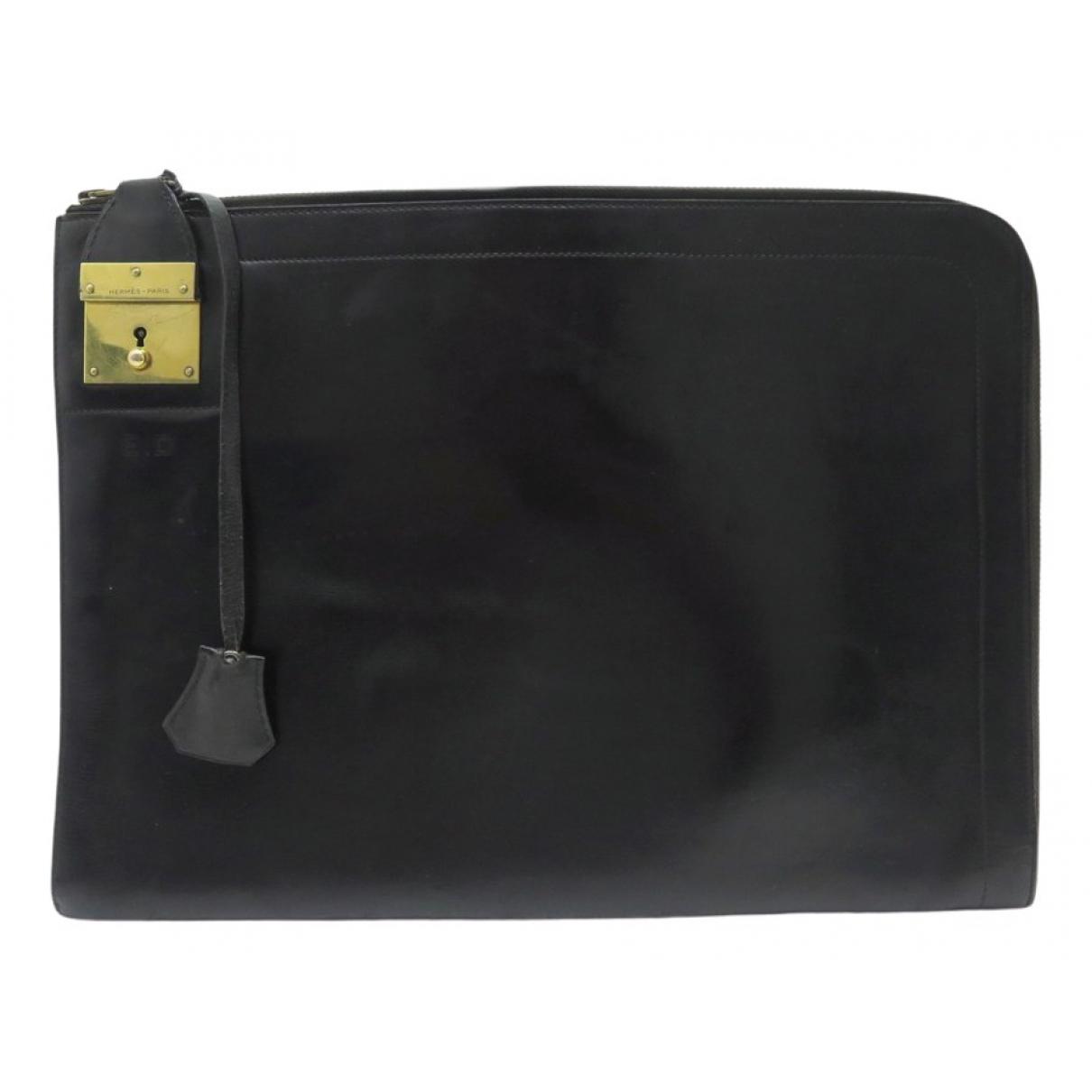 Hermès \N Black Leather Clutch bag for Women \N