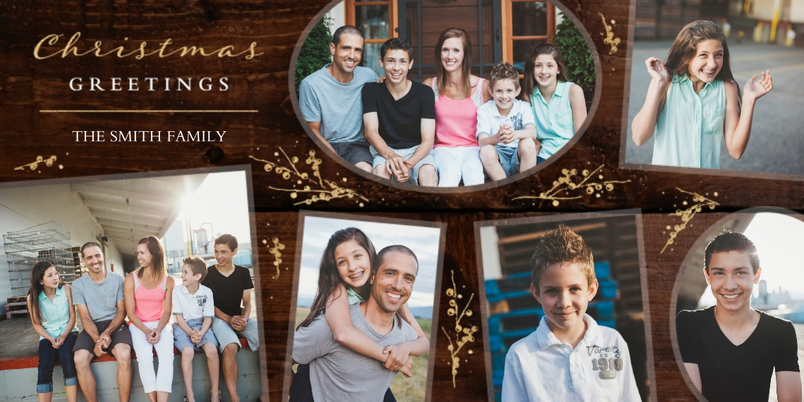 Christmas Photo Cards 4x8 Flat Card Set, 85lb, Card & Stationery -Into Merry Greetings