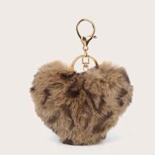 Heart Shaped Fluffy Bag Accessory