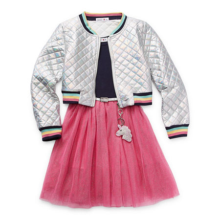 Knit Works Casual Dress Collection Big Girls Jacket Dress, 12 , Pink