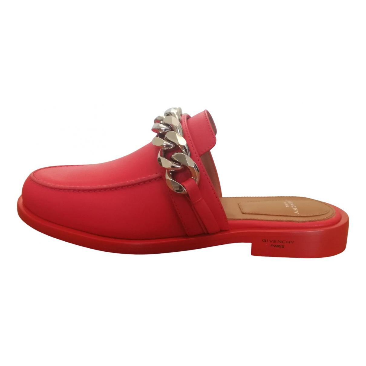 Givenchy \N Mokassins in  Rot Leder