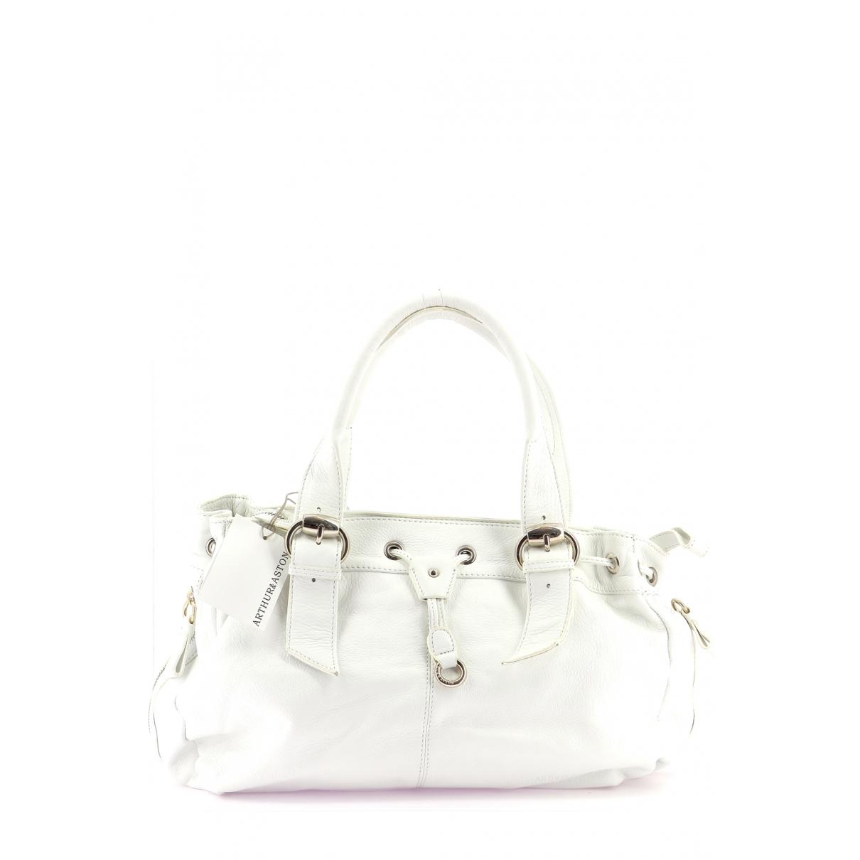 Autre Marque \N Handtasche in  Weiss Leder