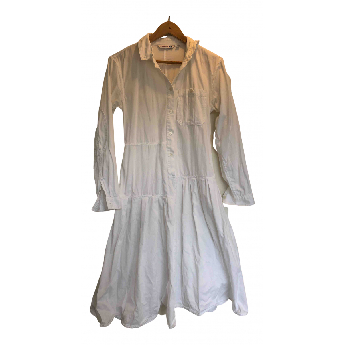 Uniqlo \N Kleid in  Weiss Baumwolle