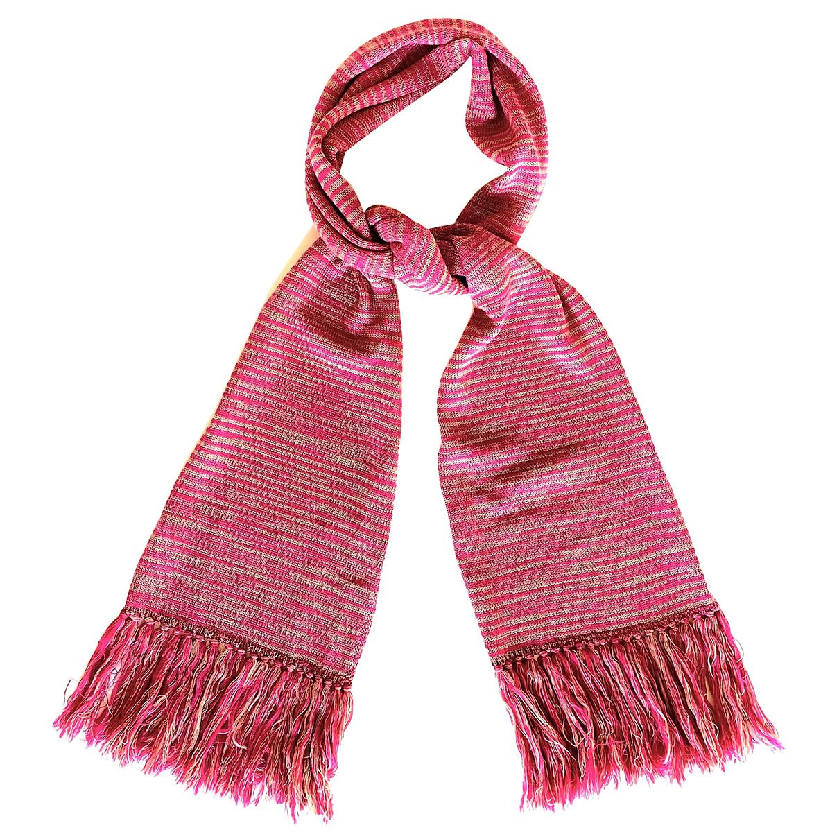 Missoni N Pink Wool scarf for Women N
