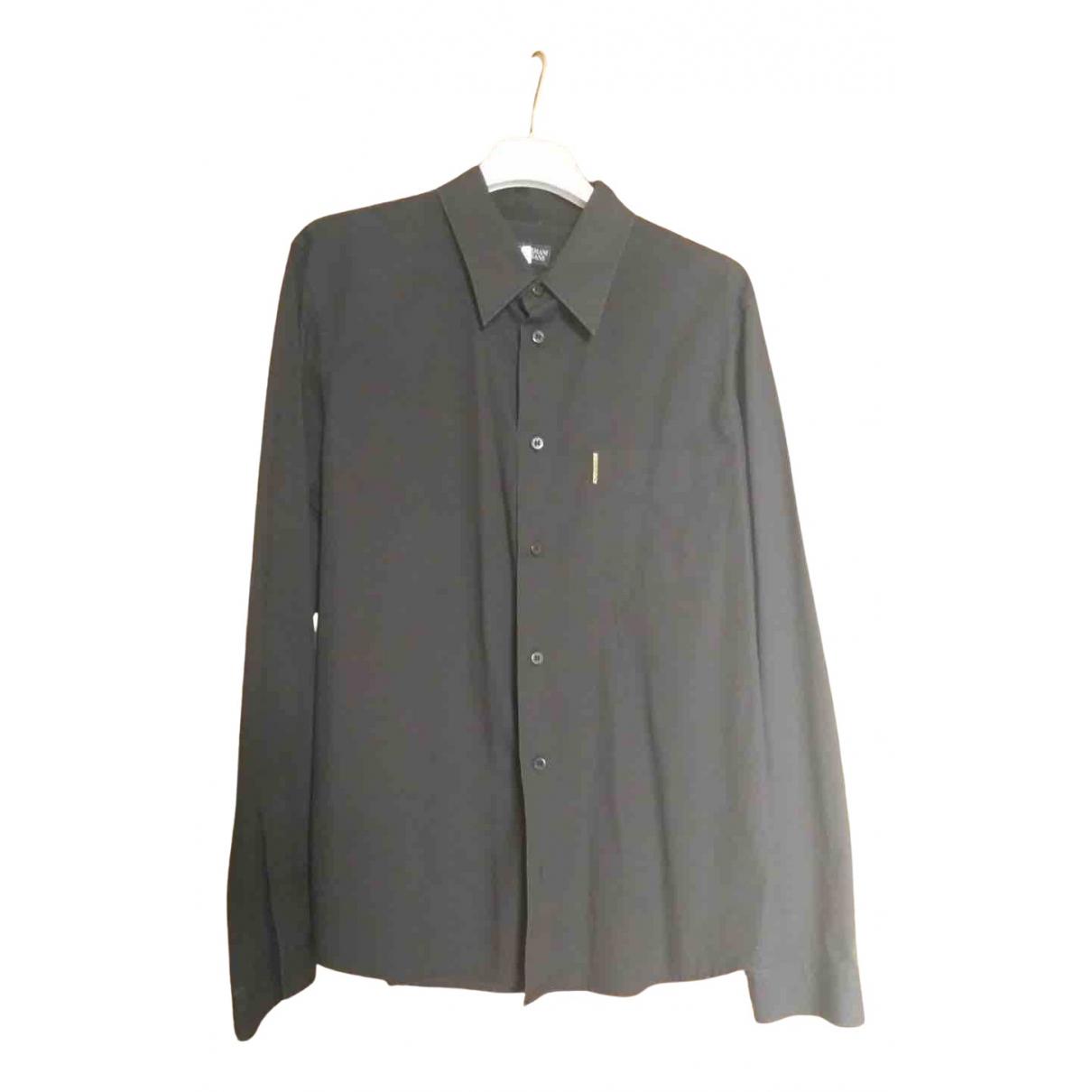 Armani Jeans N Black Cotton Shirts for Men XXL International