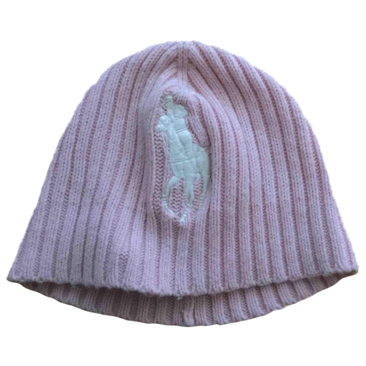 Ralph Lauren - Chapeaux.Bonnets.Gants   pour enfant en laine - rose