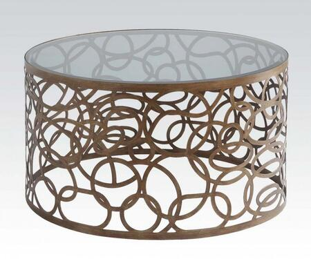 80935 Anya Coffee Table  Antique Brass &