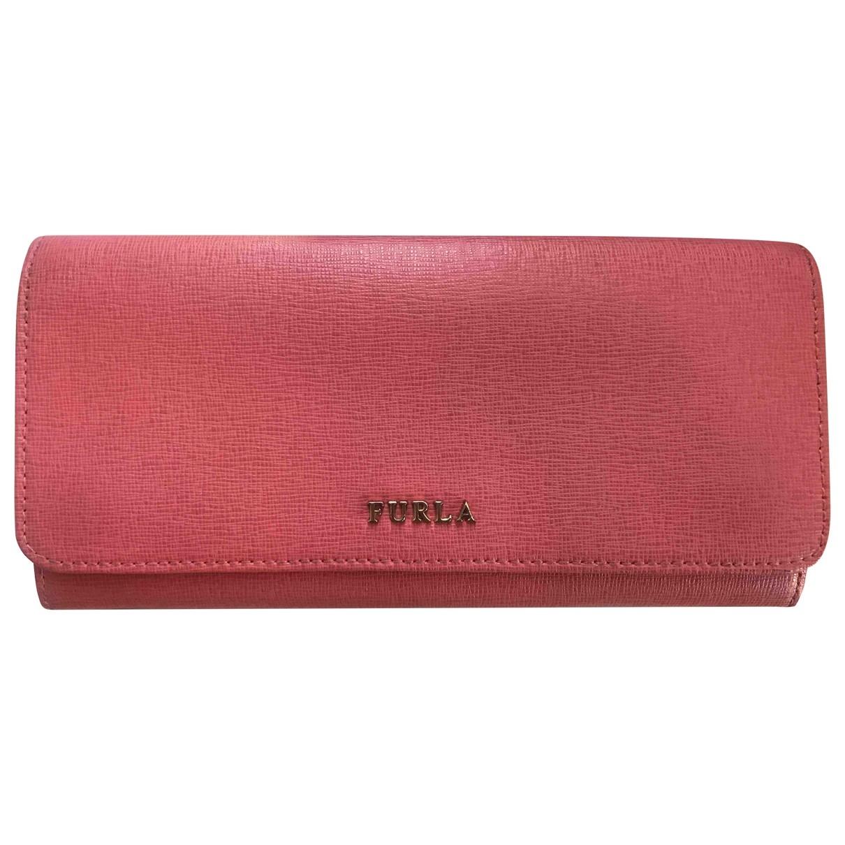 Furla \N Pink Leather wallet for Women \N