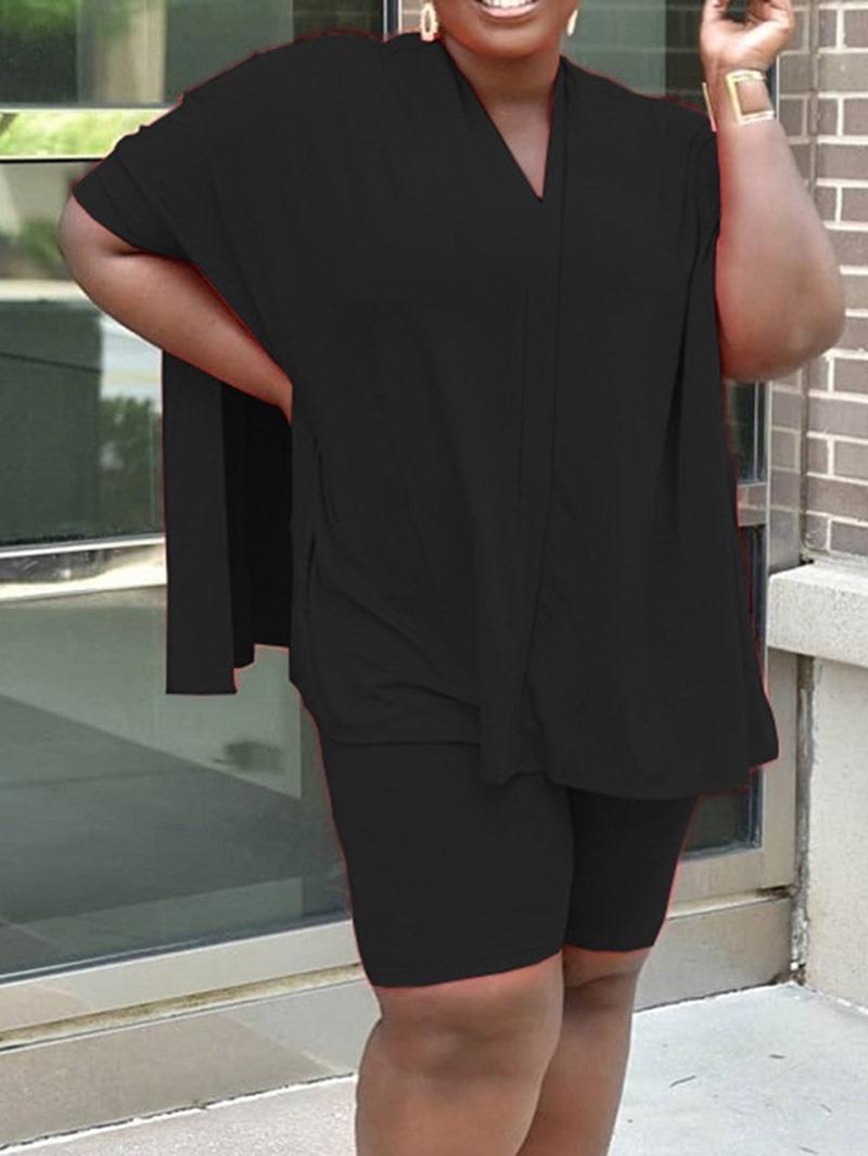 Ericdress T-Shirt Sports Plain Pullover Pencil Pants Two Piece Sets