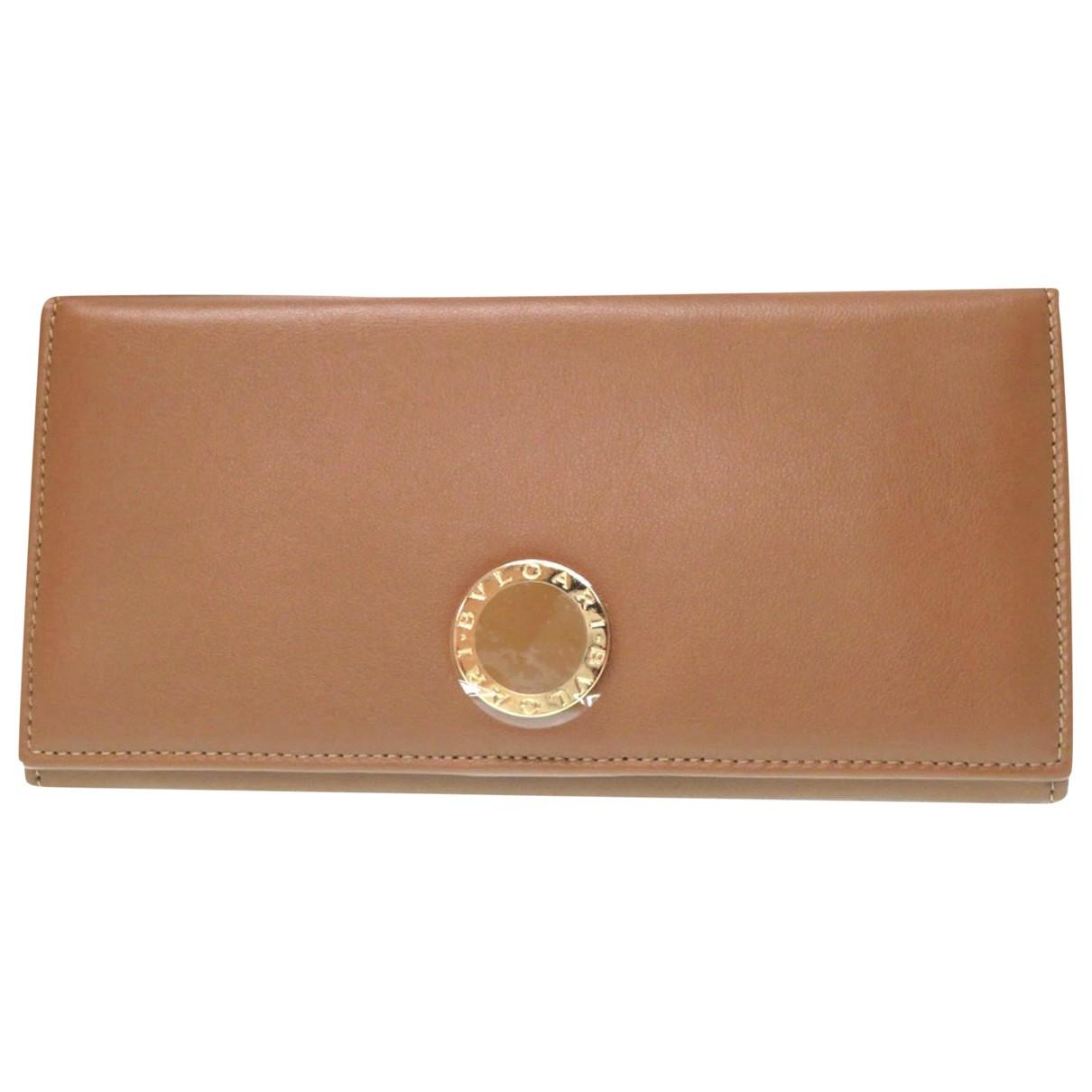Bvlgari - Portefeuille   pour femme en cuir - marron
