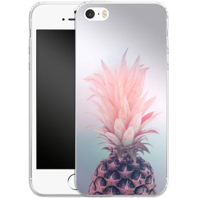 Apple iPhone 5s Silikon Handyhuelle - Pastel Pineapple von Emanuela Carratoni