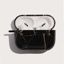 Funda de airpods con patron de marmol