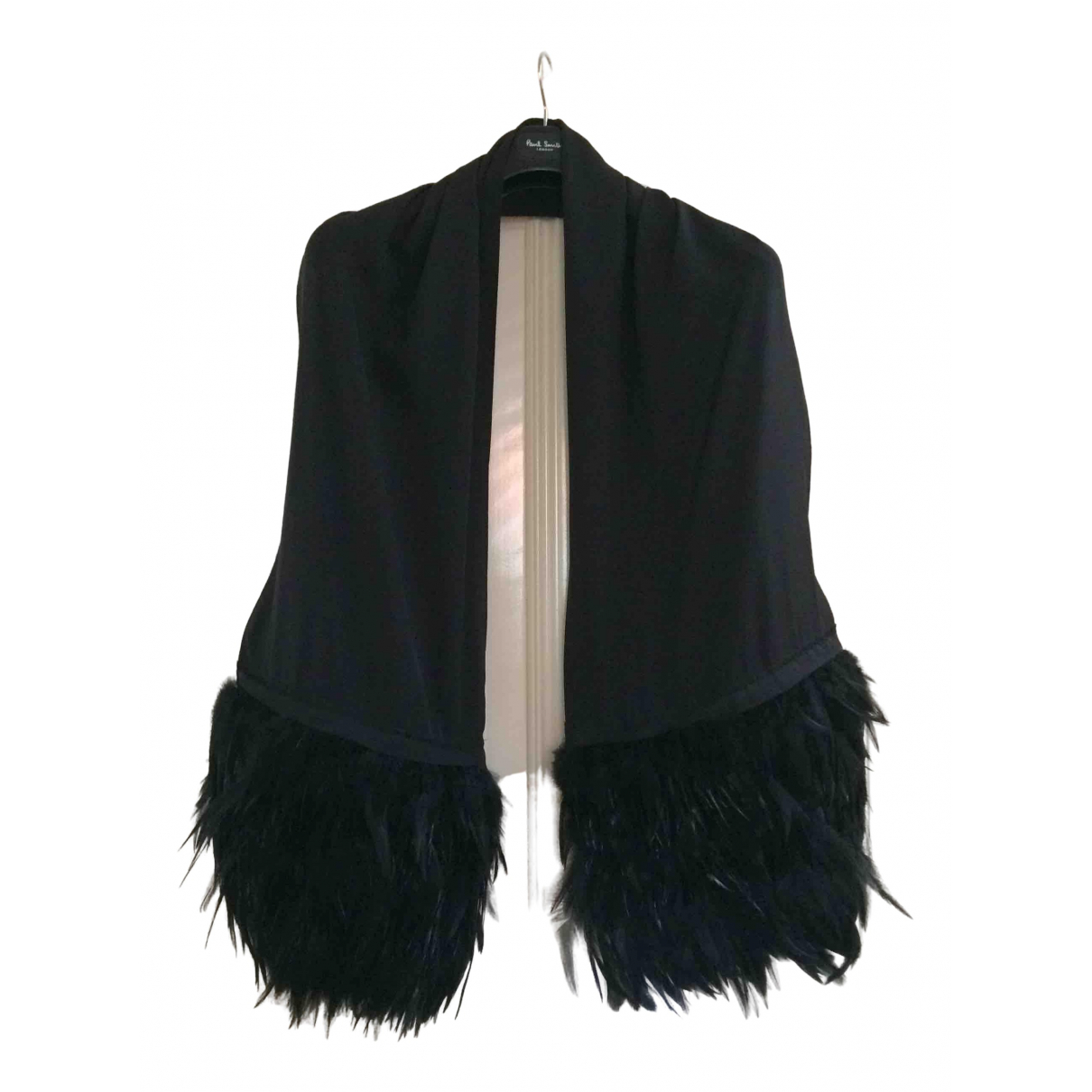 Hôtel Particulier \N Black Silk scarf for Women \N