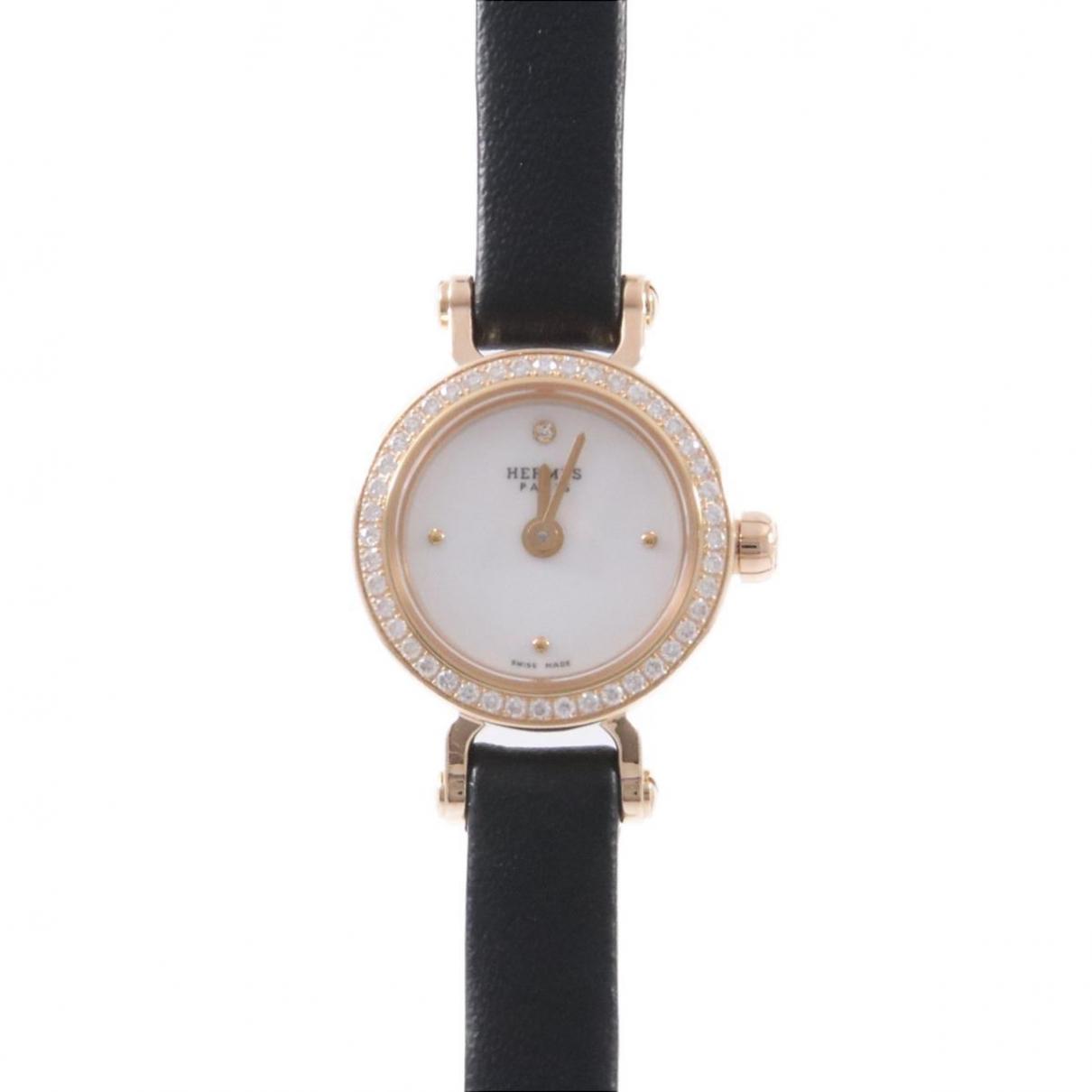Hermes - Montre   pour femme en or rose - dore