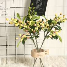 1 Branch Artificial Olive Fruit