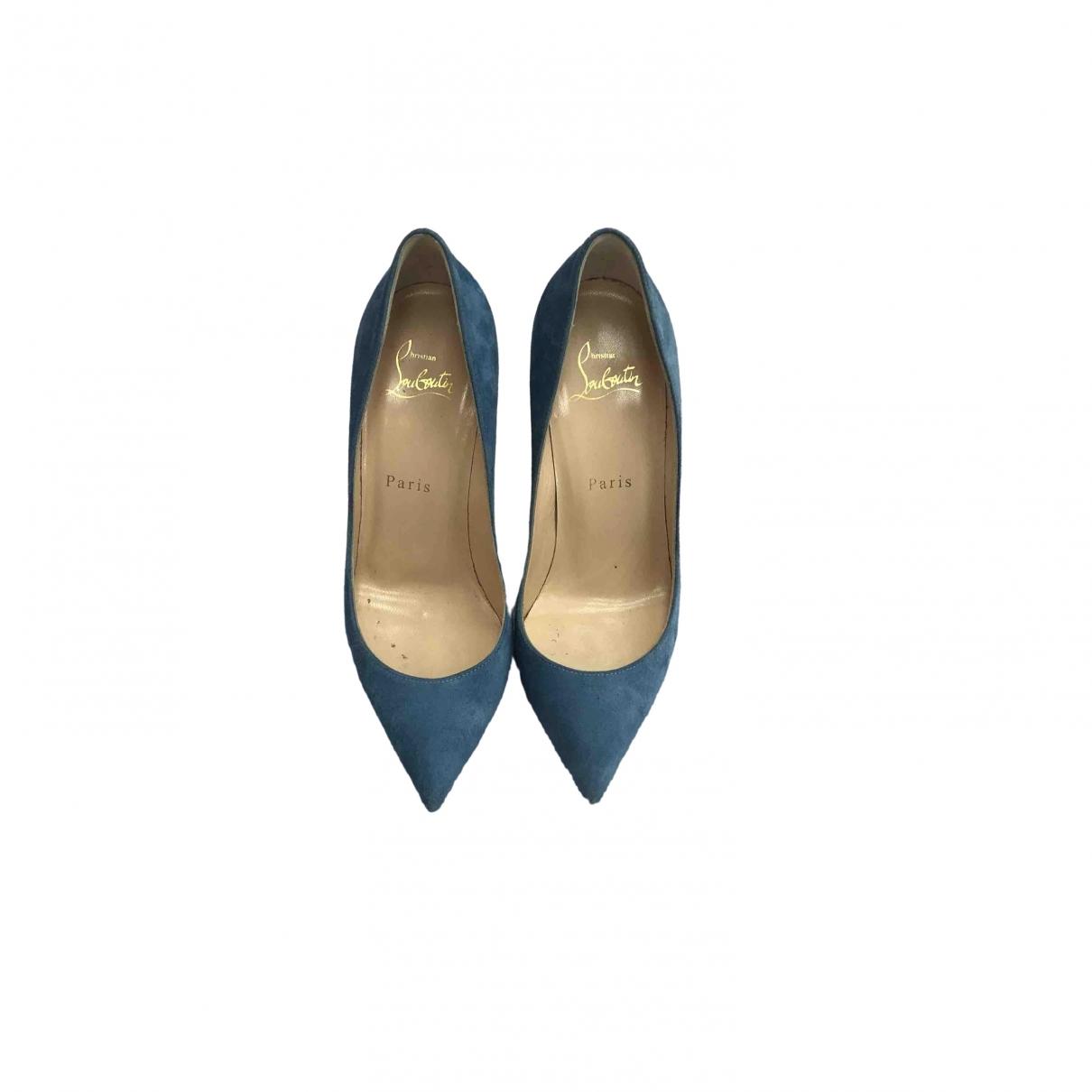 Christian Louboutin So Kate  Blue Suede Heels for Women 36.5 EU