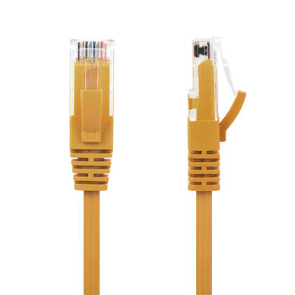 GoSlim Slim Cat6 28AWG UTP Ethernet Network Cable Yellow - PrimeCables® - 1ft