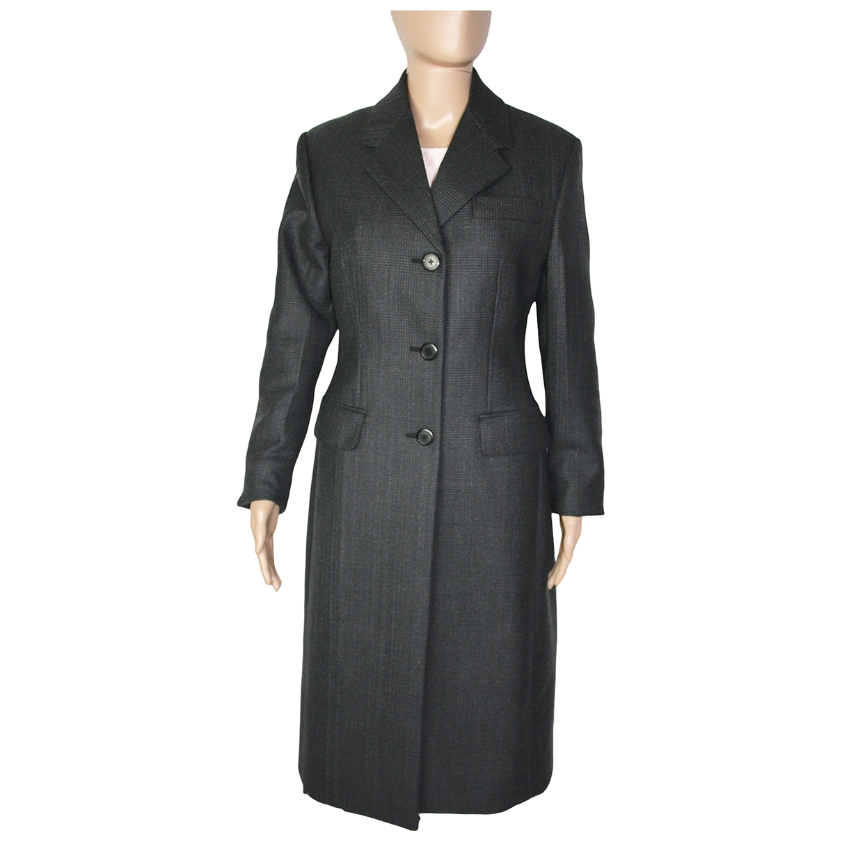 Prada \N Grey Wool coat for Women 40 IT