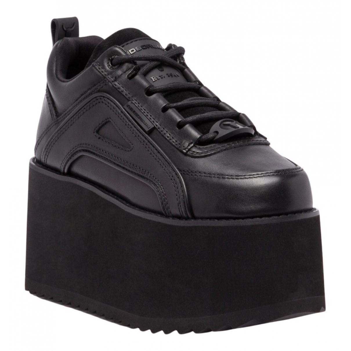 Windsor Smith - Baskets   pour femme en cuir - noir