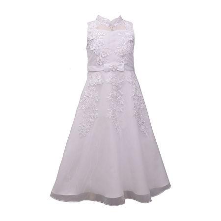 Bonnie Jean Little & Big Girls Sleeveless A-Line Dress, 16 , White