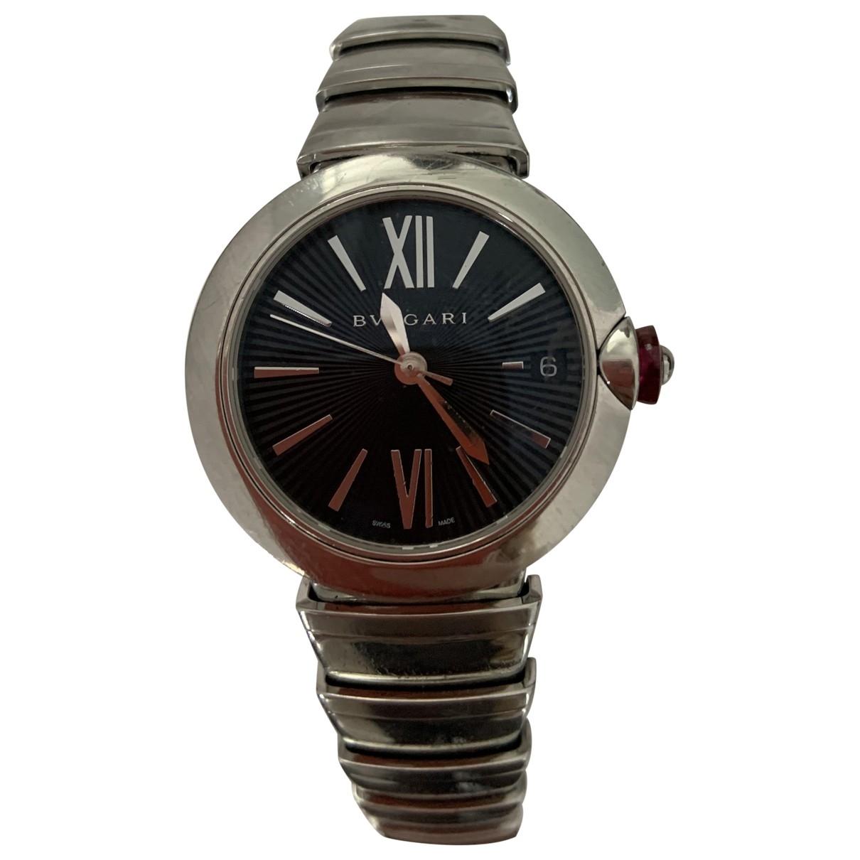 Bvlgari \N Uhr in  Schwarz Stahl