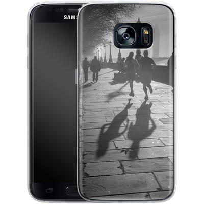 Samsung Galaxy S7 Silikon Handyhuelle - Walk If You Must von Ronya Galka