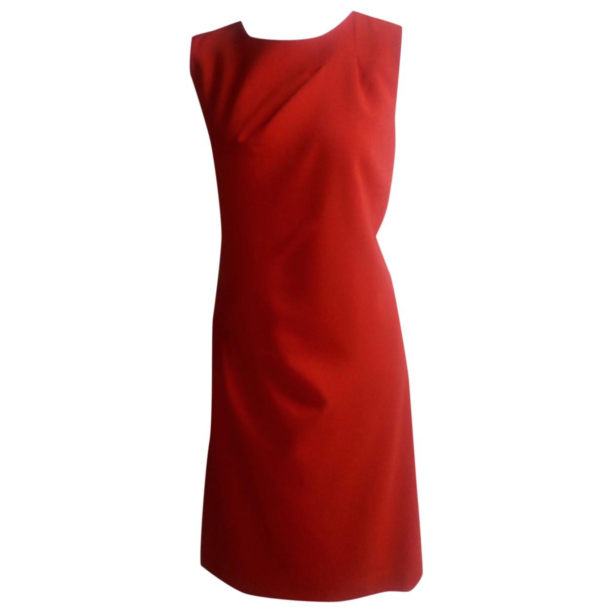 Michael Kors \N Kleid in  Rot Wolle