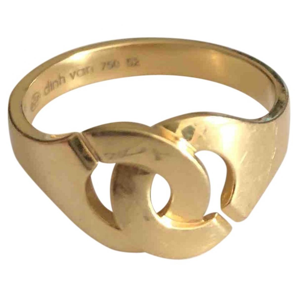 Dinh Van - Bague Menottes  pour femme en or jaune - dore