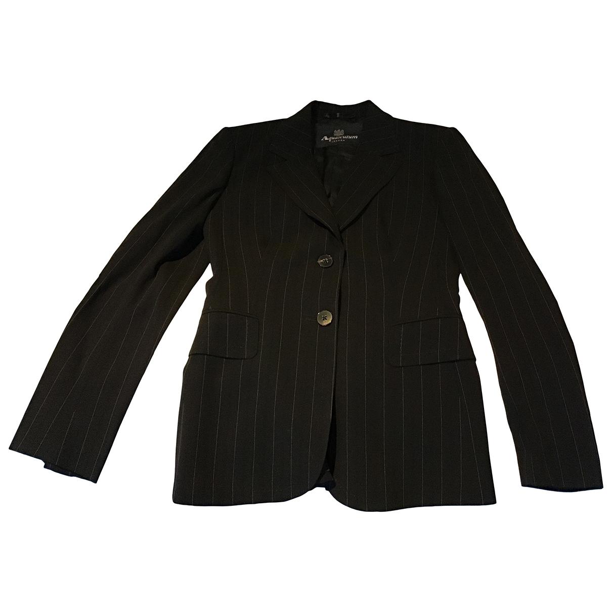 Aquascutum - Veste   pour femme en laine - noir