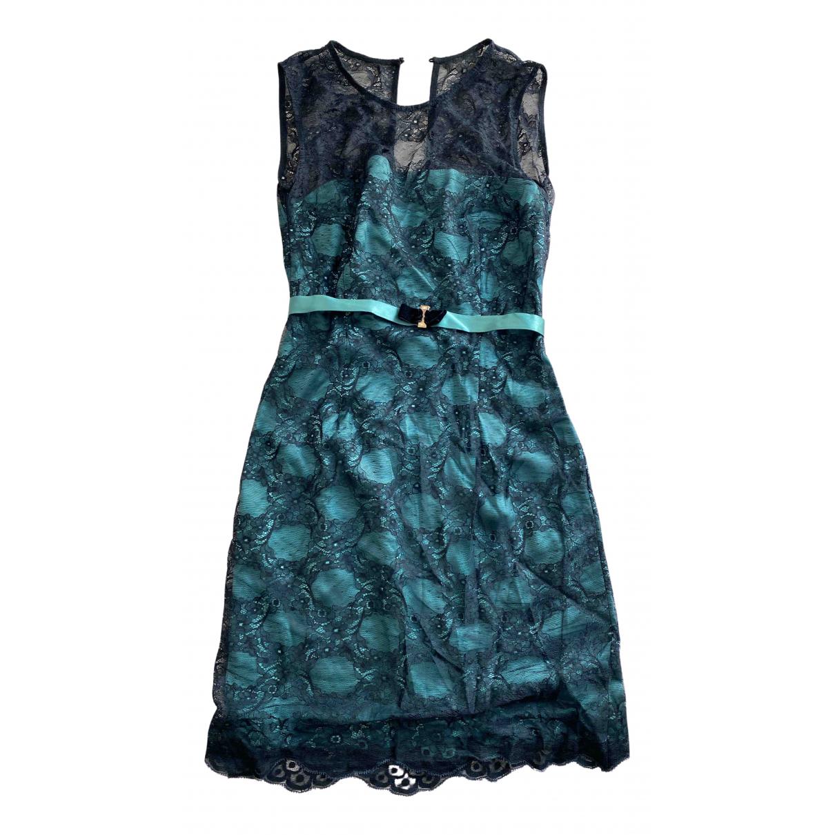 Elisabetta Franchi \N Green Lace dress for Women 42 FR