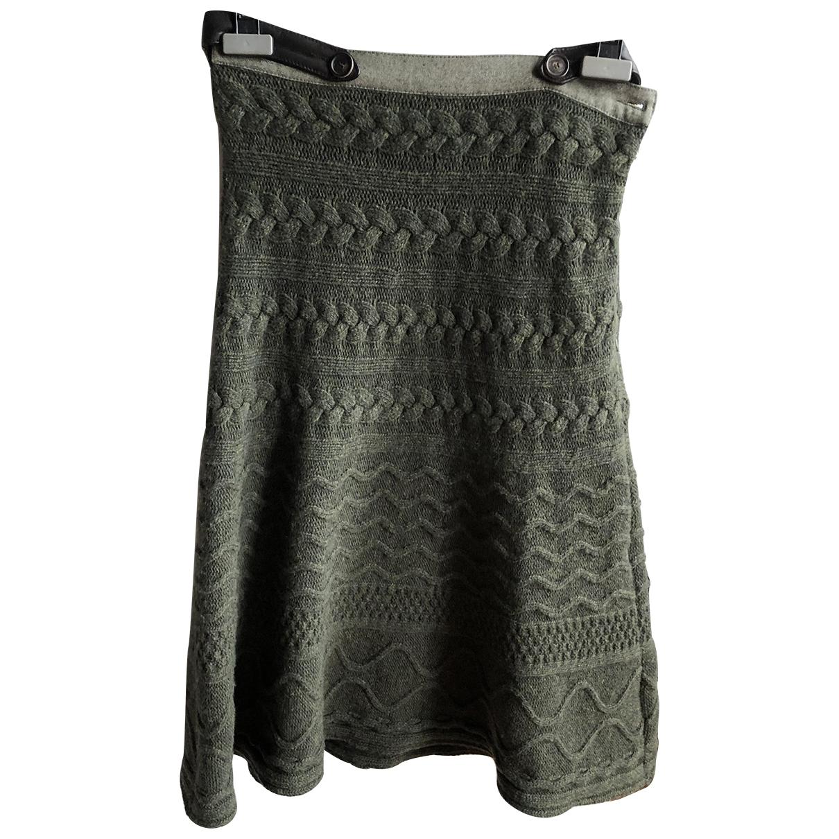 Etro \N Rocke in  Khaki Wolle