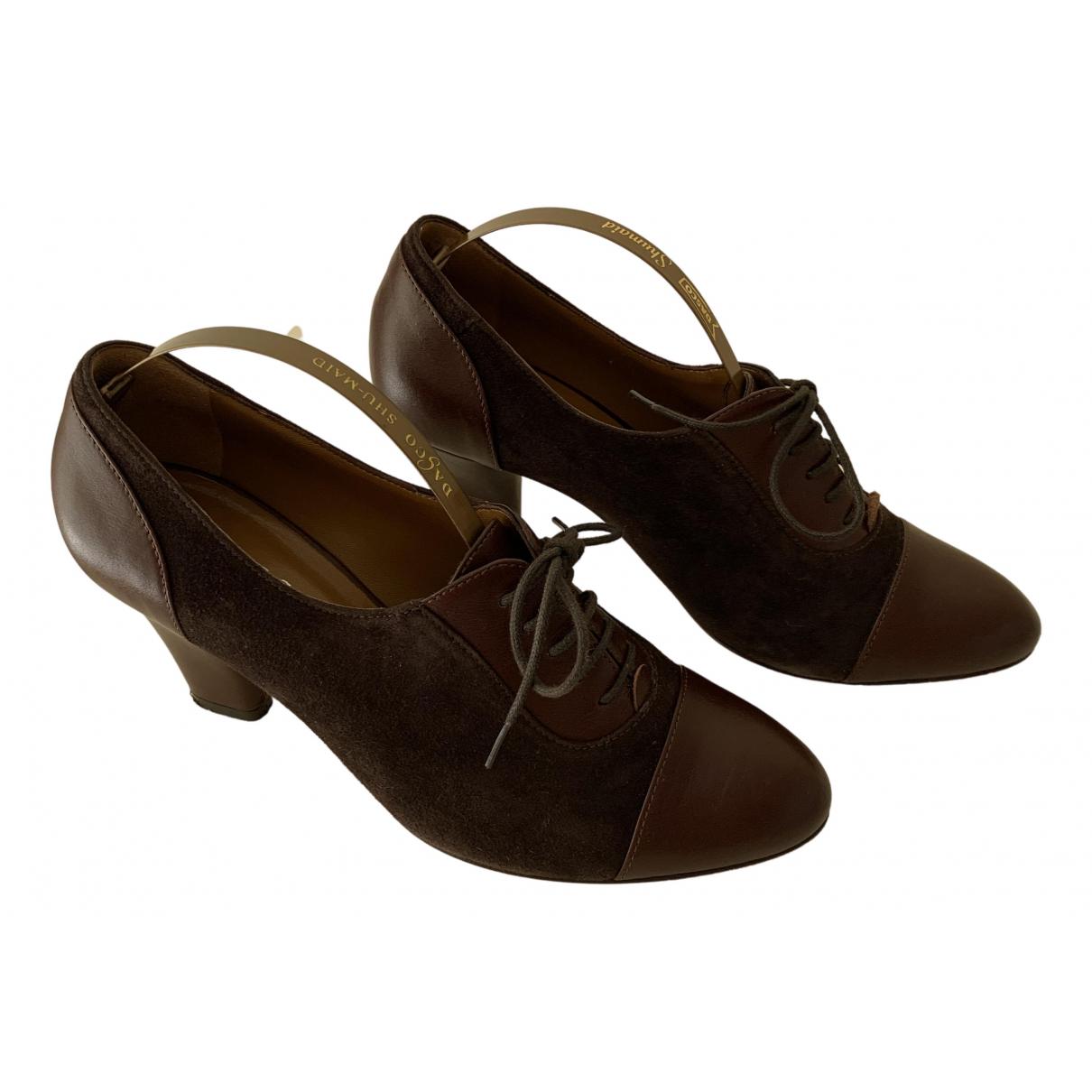 Hobbs - Derbies   pour femme en cuir - marron