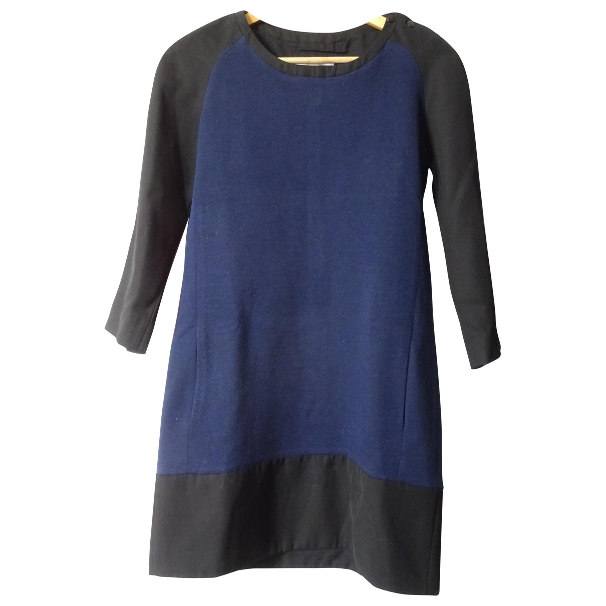 Sandro - Robe   pour femme en laine - bleu