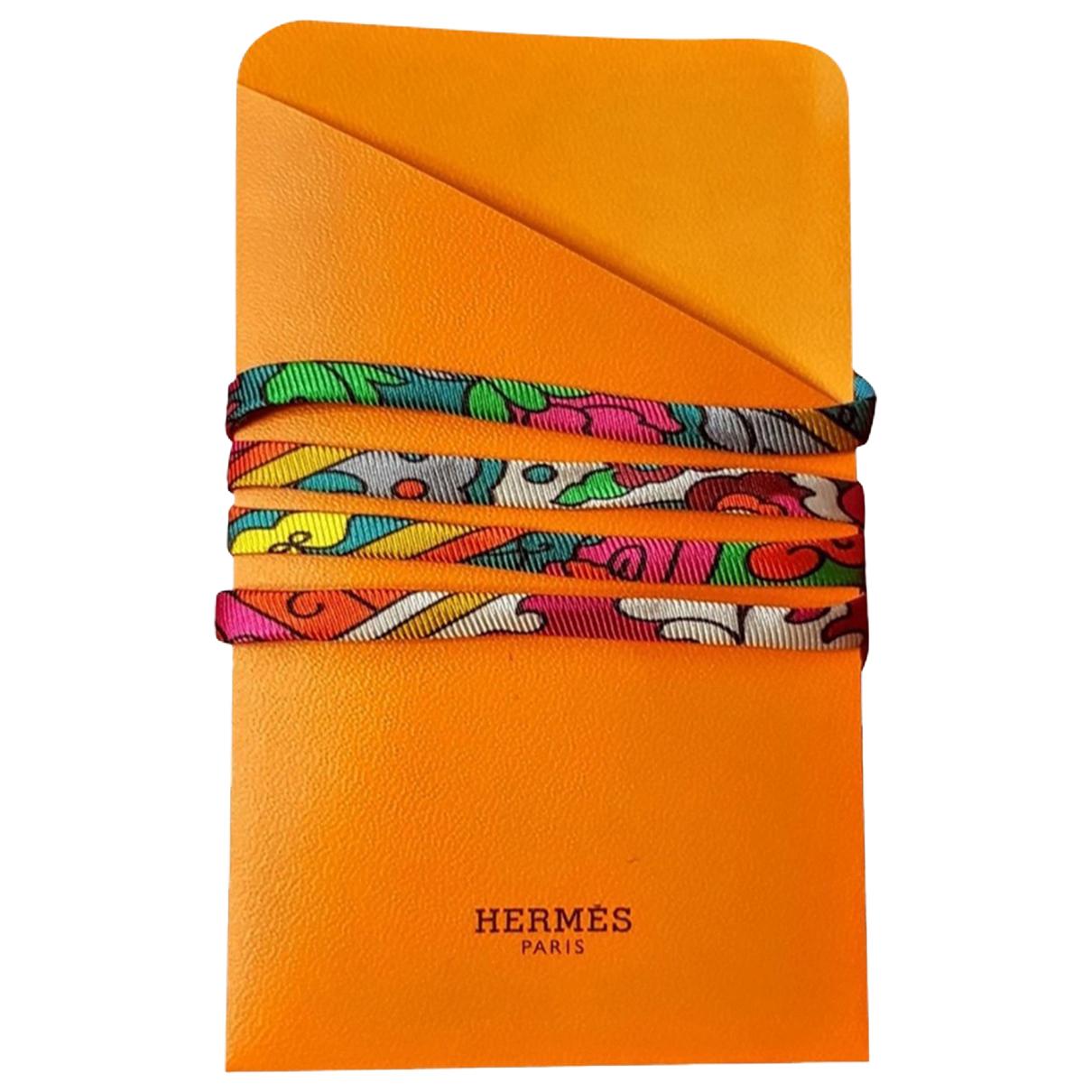 Hermes - Bracelet   pour femme en toile - multicolore
