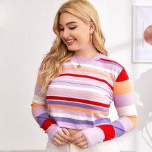Pullover mit Regenbogen Streifen