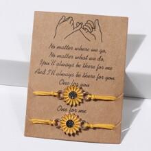 2pcs Sunflower Bracelet