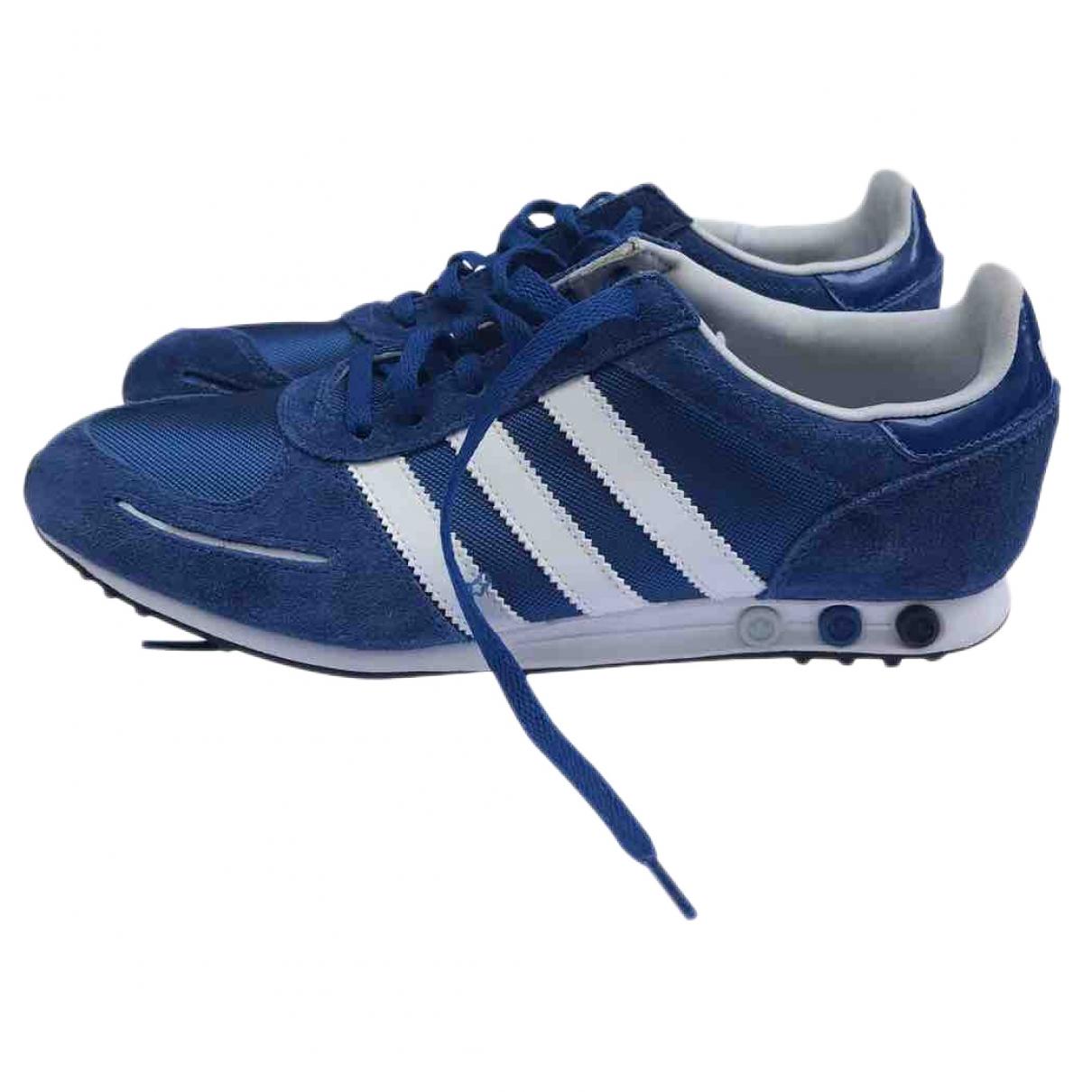 Adidas \N Sneakers in  Blau Veloursleder