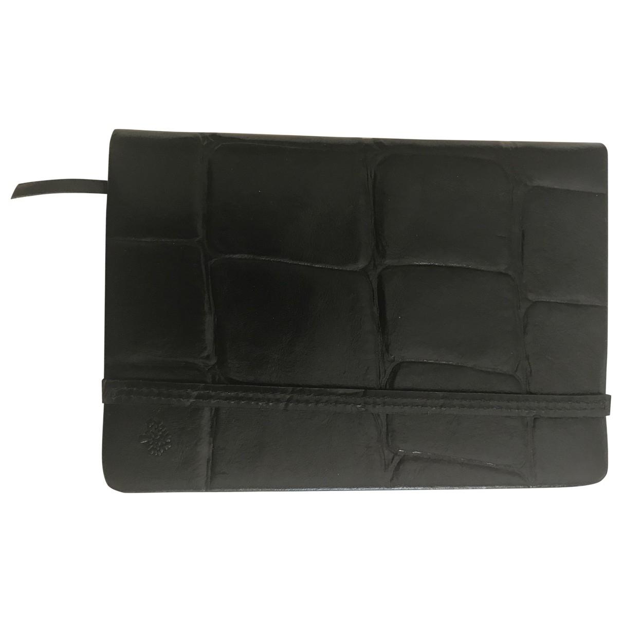 Mulberry \N Accessoires und Dekoration in  Schwarz Leder