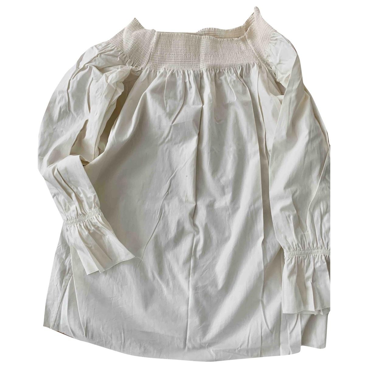 Mm6 - Top   pour femme en coton - blanc