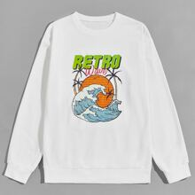 Guys Waves Graphic Sweatshirt