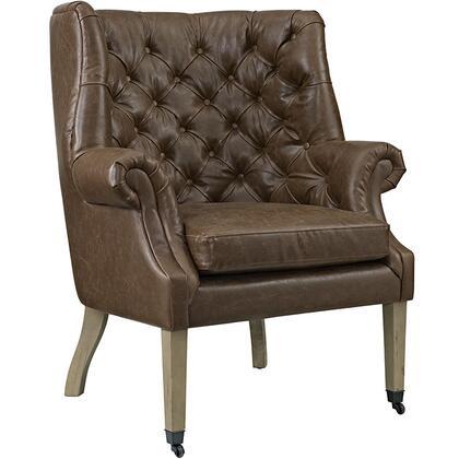 EEI-2147-BRN Chart Vinyl Lounge Chair  in