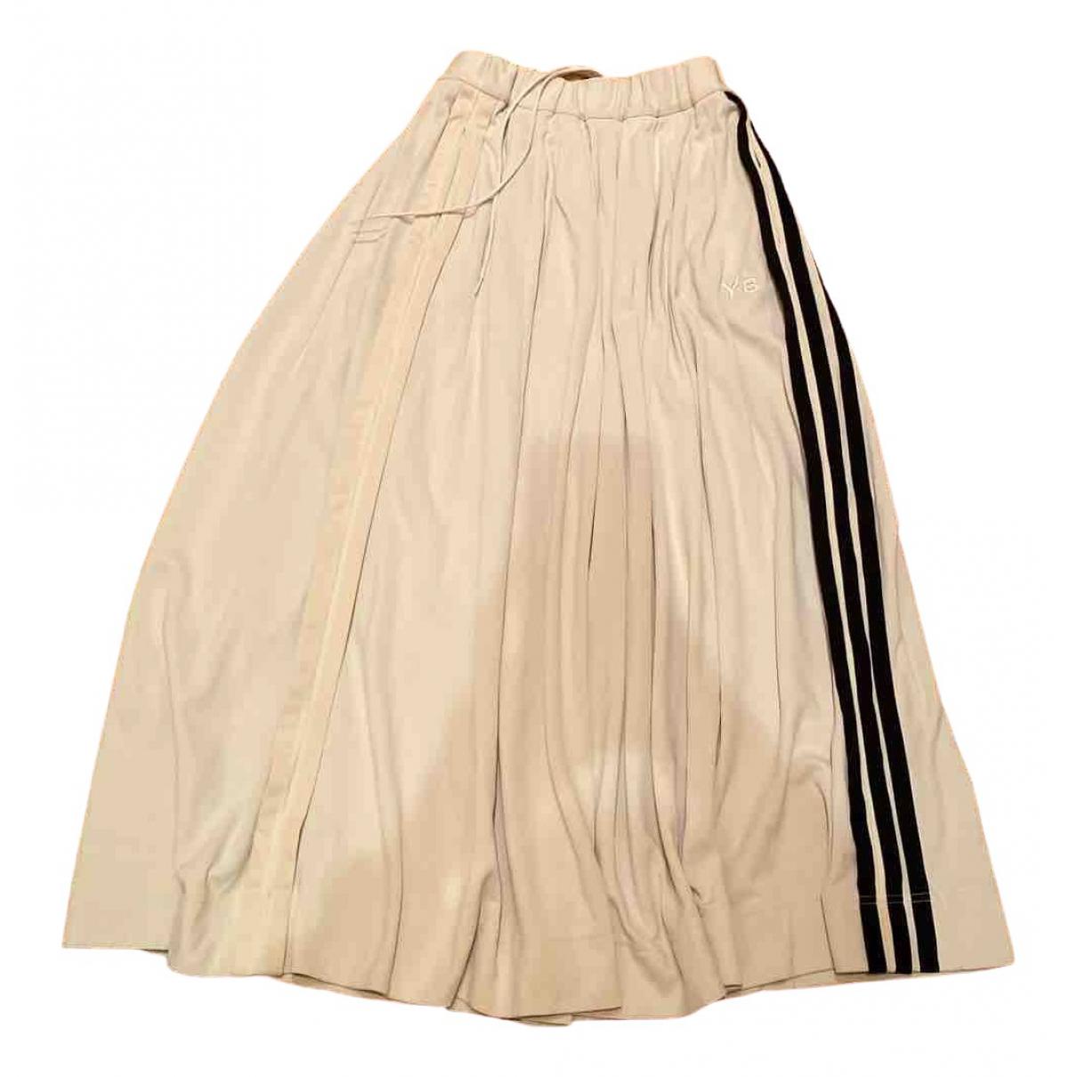 Y-3 By Yohji Yamamoto \N White Cotton skirt for Women 38 FR