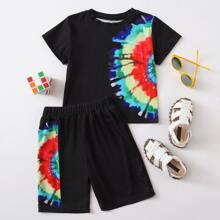 Toddler Boys Tie Dye Tee & Shorts
