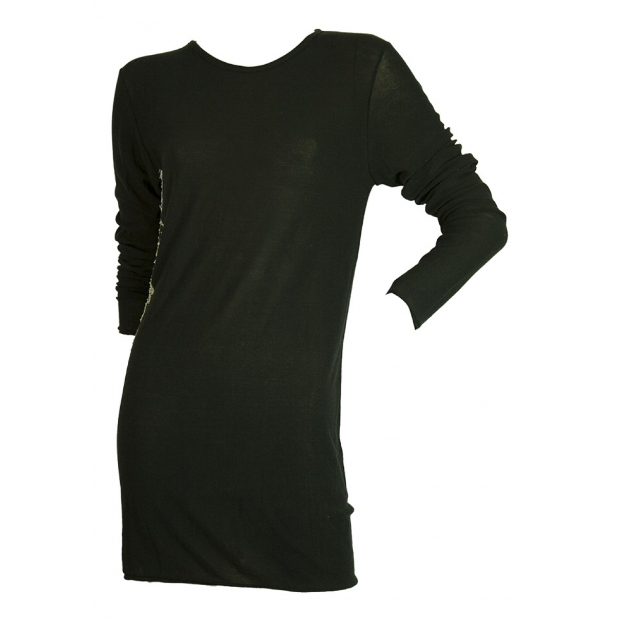 Masnada - Robe   pour femme en coton - noir